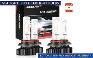 SEALIGHT 9005 LED headlight bulbs