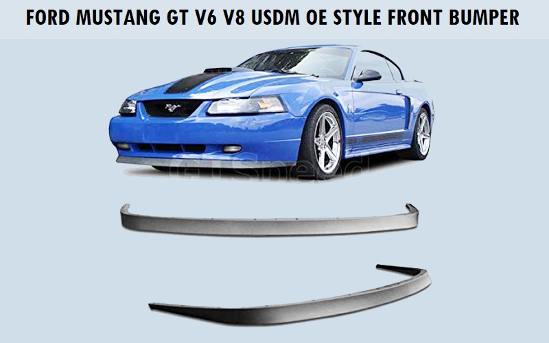 Ford Mustang GT V6 V8 USDM OE Style Front Bumper Lip Review
