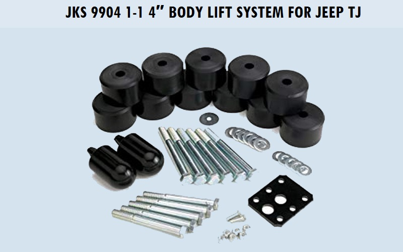 JKS 9904 1-1 4″ Body Lift System for Jeep TJ Review