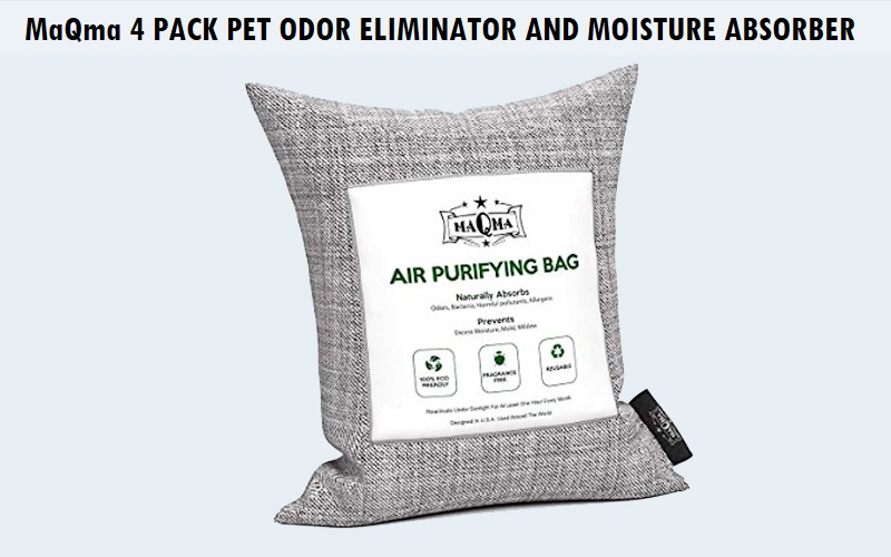 MaQma 4 Pack Pet Odor Eliminator and Moisture Absorber Bags Review