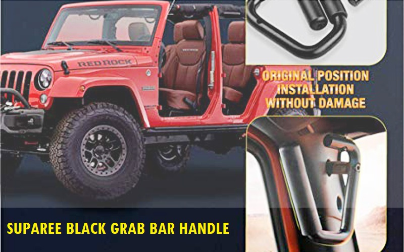 SUPAREE Black Grab Bar Front Grab Handle Review