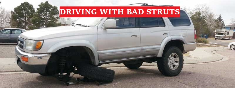 Driving with bad struts