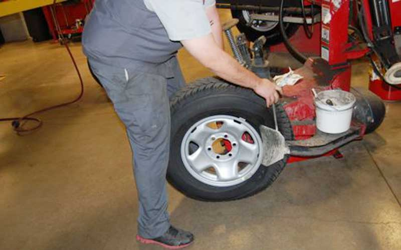 Reinstall your tires