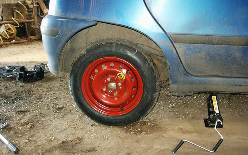 drive with a spare tire
