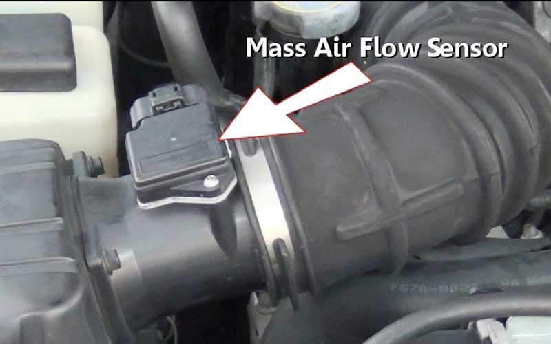 MAF sensor detects