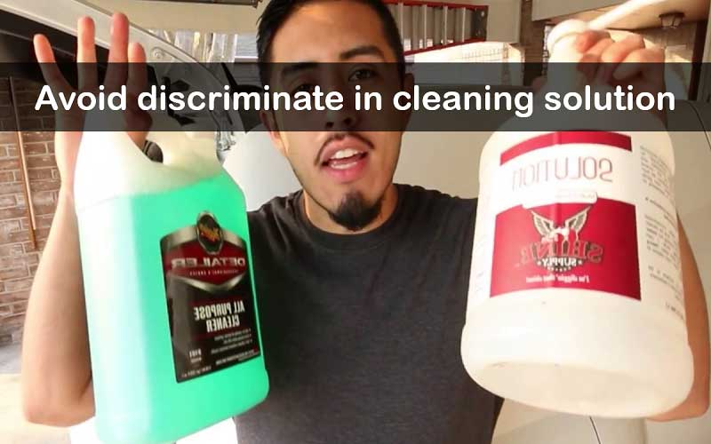 Applying Purpose Cleaners Indiscriminately