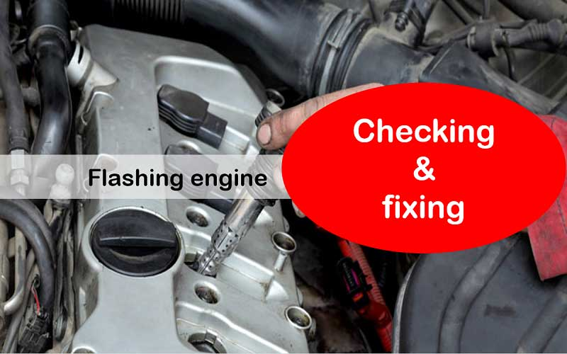 Flashing engine regarding to misfiring cylinder