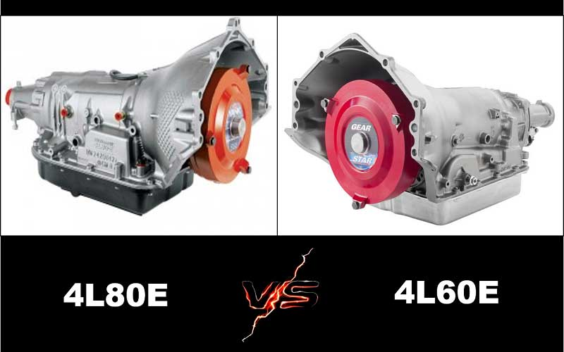 Dissimilarities of 4L 60 E with 4L 80 E transmission