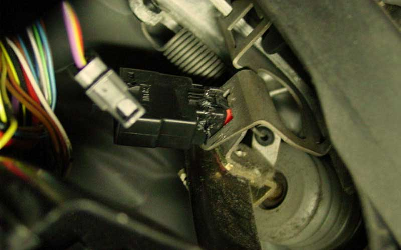 Failed brake pedal switch