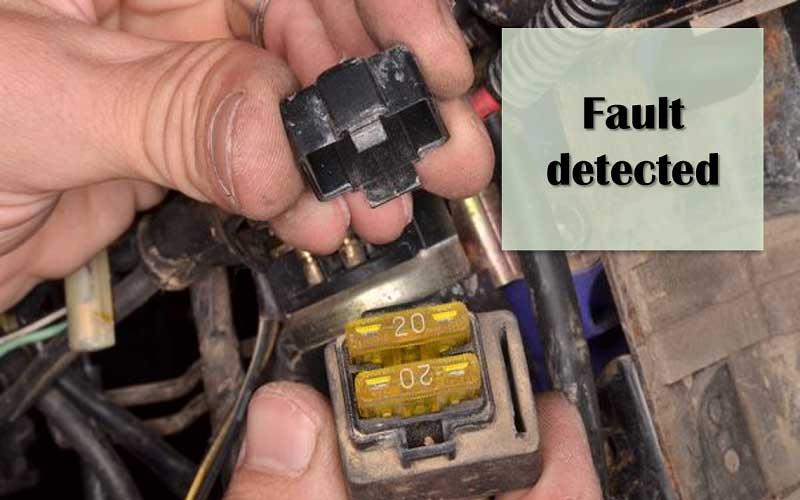 Damaged ignition system