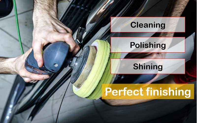 Finishing of car sanding