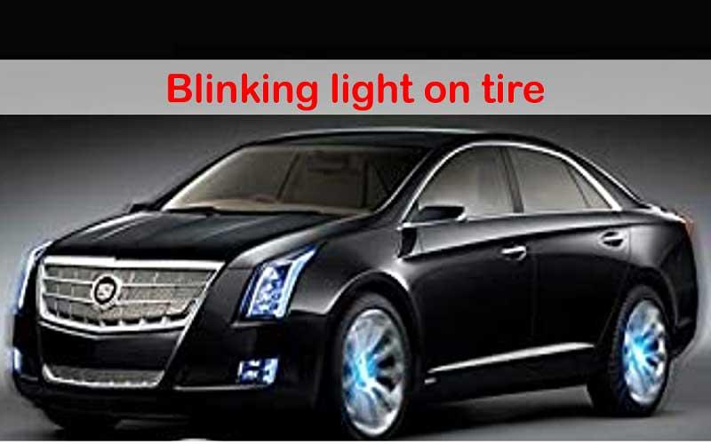 Flashing tire lights