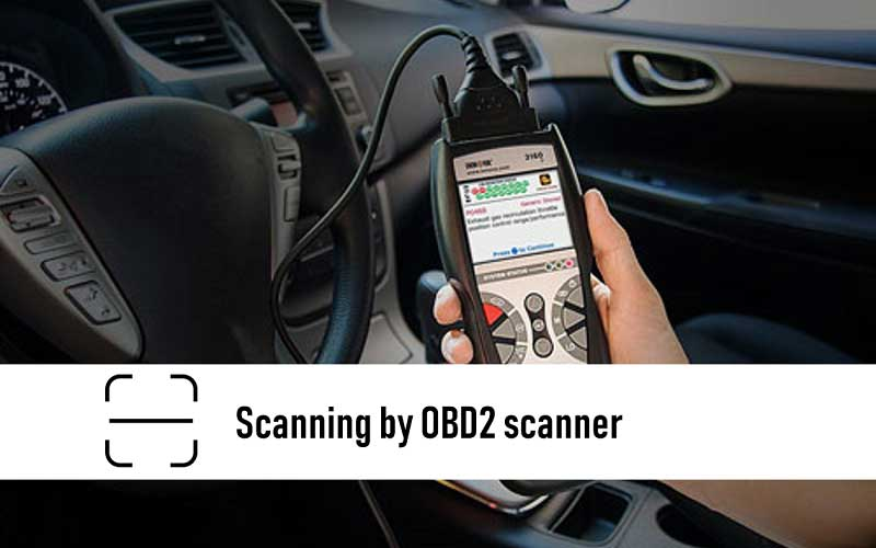 Scan it with an OBD2 scanner