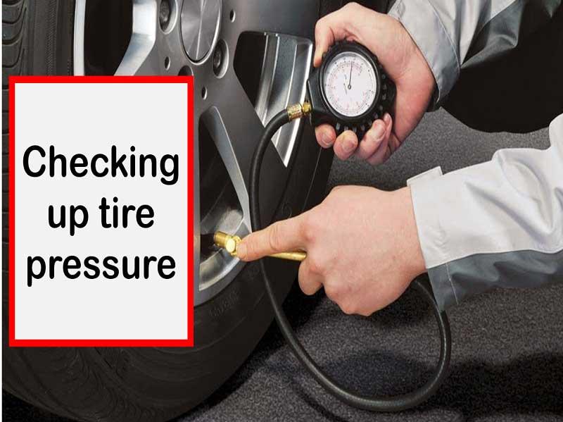 Tire pressure check-in