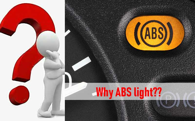 What is the purpose of the ABS light turning on
