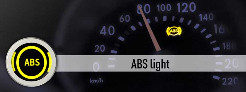 ABS light on the dashboard