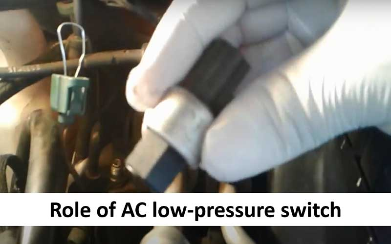 What does an AC low-pressure switch do