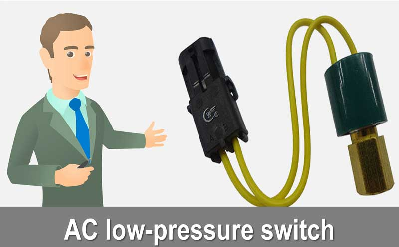 What is an AC low-pressure switch