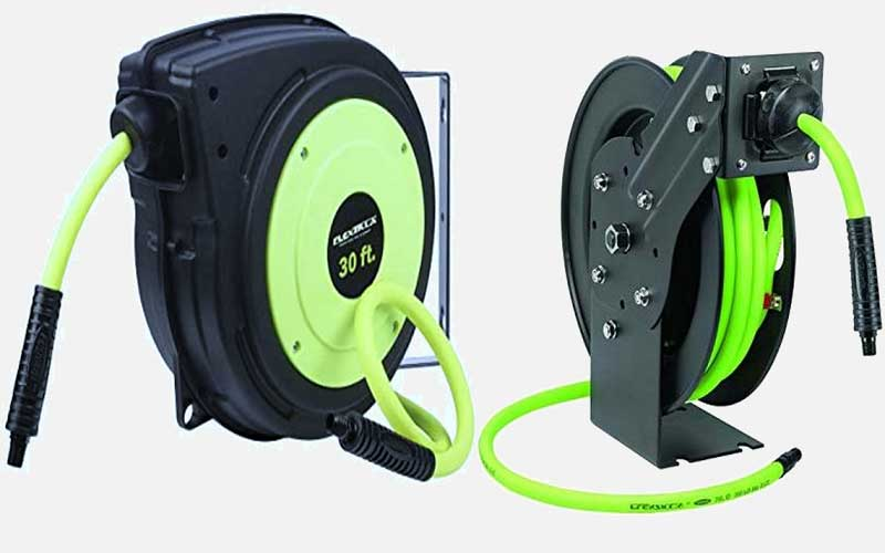 Flexzilla Retractable Enclosed Plastic Air Hose Reel review