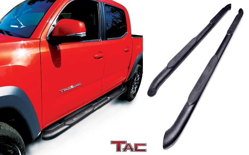 TAC Side Steps Fit - 4 Inches Toyota Tacoma Double Cab review