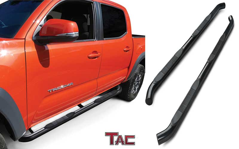 "TAC Side Step Fit - 3"" for Toyota Tacoma Double Cab review"